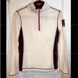✨Ralph Lauren Beige Long Sleeve Zip Up T-shirt